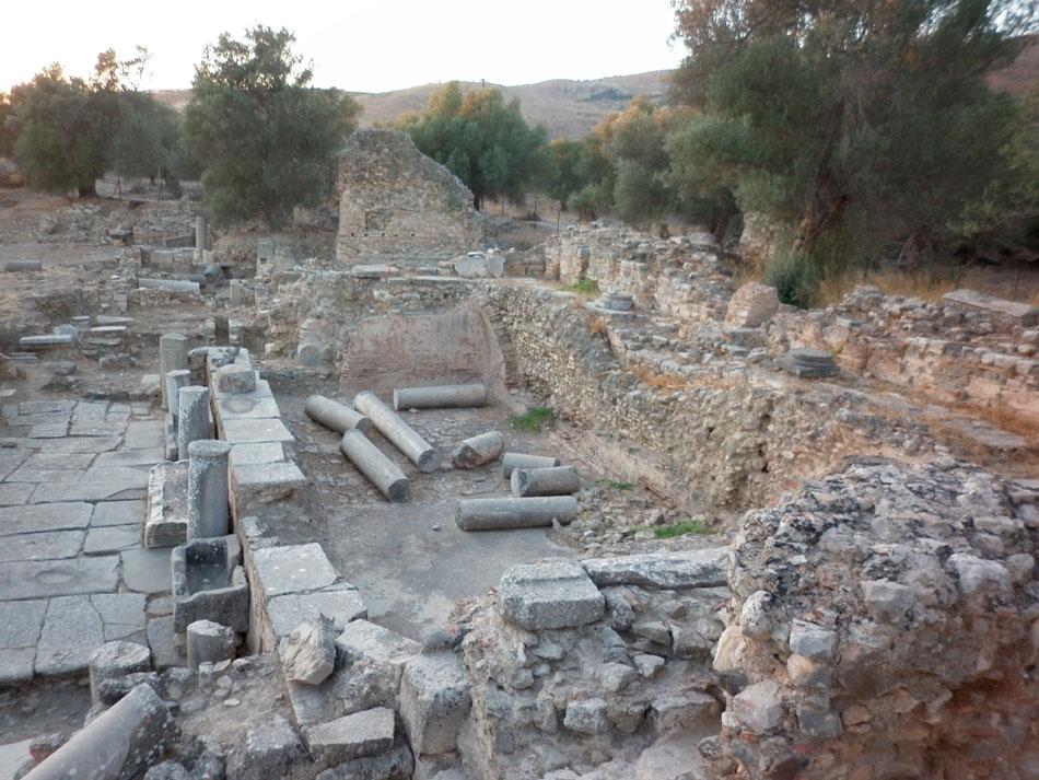 Γόρτυνα. Το Ρωμαϊκό Νυμφαίο στην περιοχή του «Pretorio» (φωτ. Ιταλική Αρχαιολογική Σχολή Αθηνών).