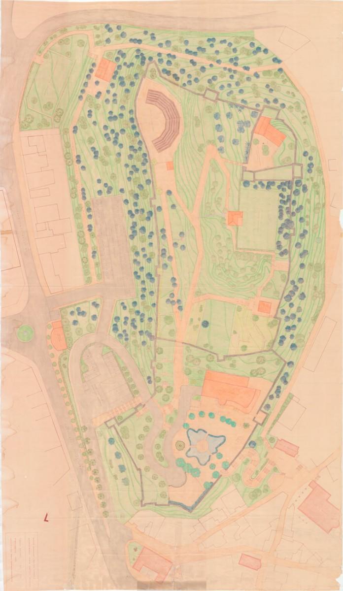 Εικ. 5. Σκαρίφημα κάτοψης κάστρου Τρικάλων. Πηγή: αρχείο 19ης ΕΒΑ.