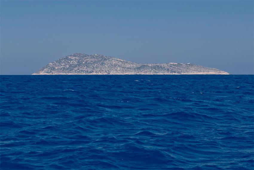 H νησίδα Στρογγυλή, κοντά στο Καστελόριζο, το ανατολικότερο ελληνικό έδαφος.