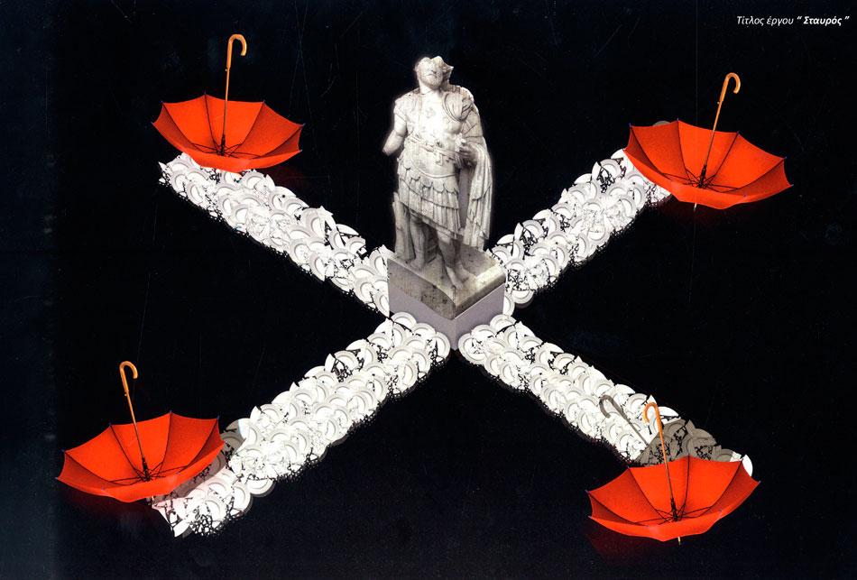 Δημήτρης Ξόνογλου, εγκατάσταση: «Σταυρός».