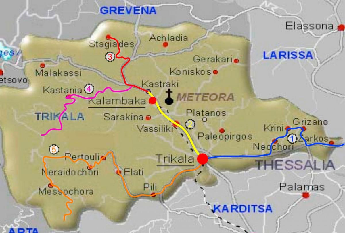 Εικ. 6. Χάρτης διαδρομών. (Πηγή: http://trikalatour.blogspot.gr/2012/04/blog-post.html)