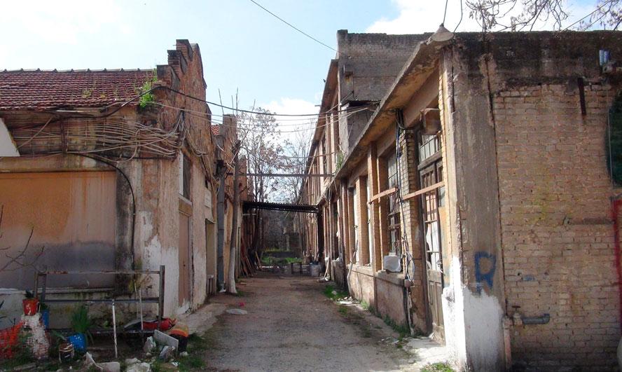 Το συγκρότημα κτιρίων της Ελληνικής Εριουργίας, στα Άνω Πατήσια, που χρονολογείται στις αρχές της δεκαετίας του 1920 (φωτ. Monumenta).
