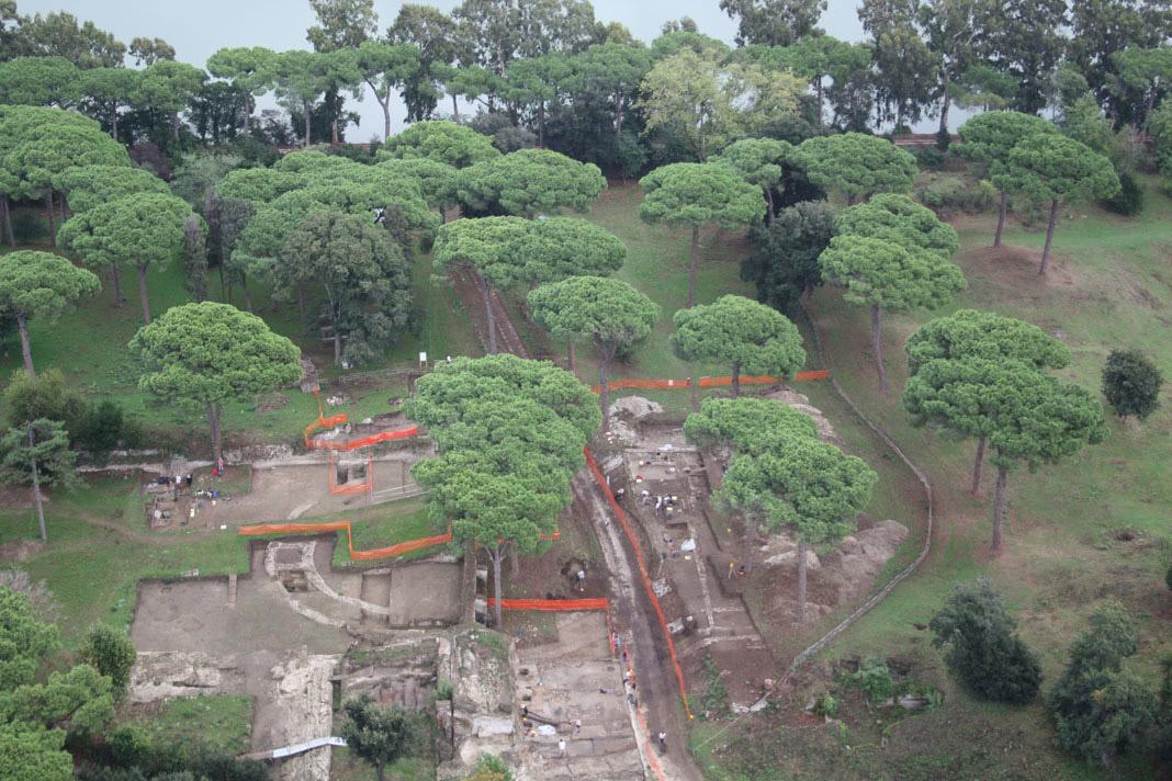 Άποψη της ανασκαφής στο Portus (φωτ. Portus Project 2009).