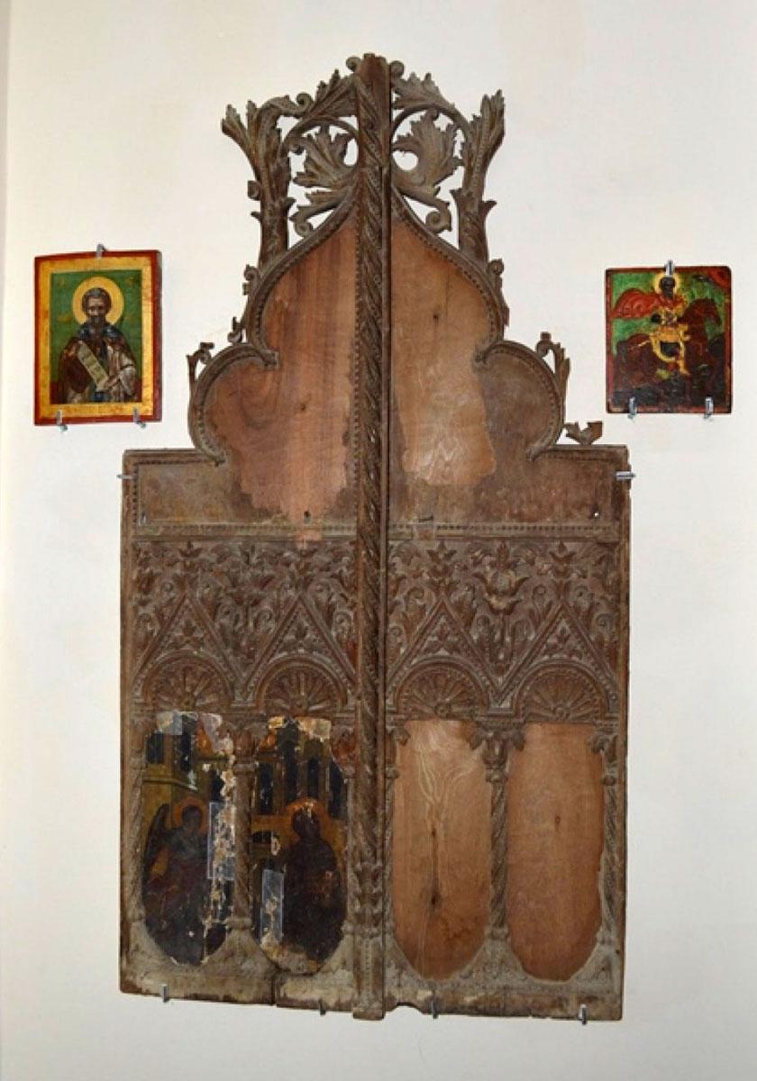 Εικ. 3. Βημόθυρο από τη Μονή Παναγίας Τοχνίου στις Μάνδρες Αμμοχώστου,17ος αιώνας.