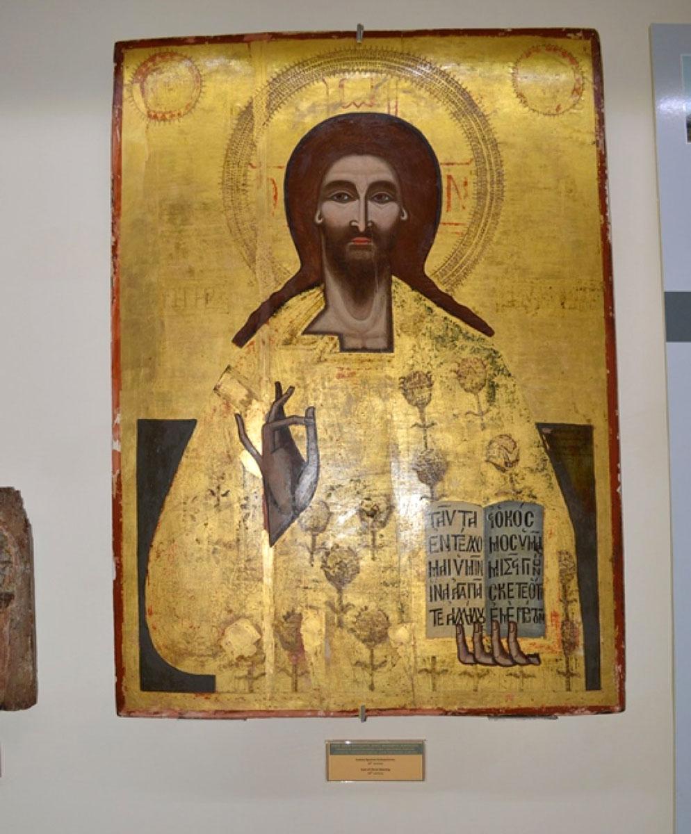 Εικ. 6. Ο Χριστός Ευλογών. Εικόνα από το ναό Αγίου Θεοδώρου στο ομώνυμο χωριό της Καρπασίας, 17ος αιώνας.