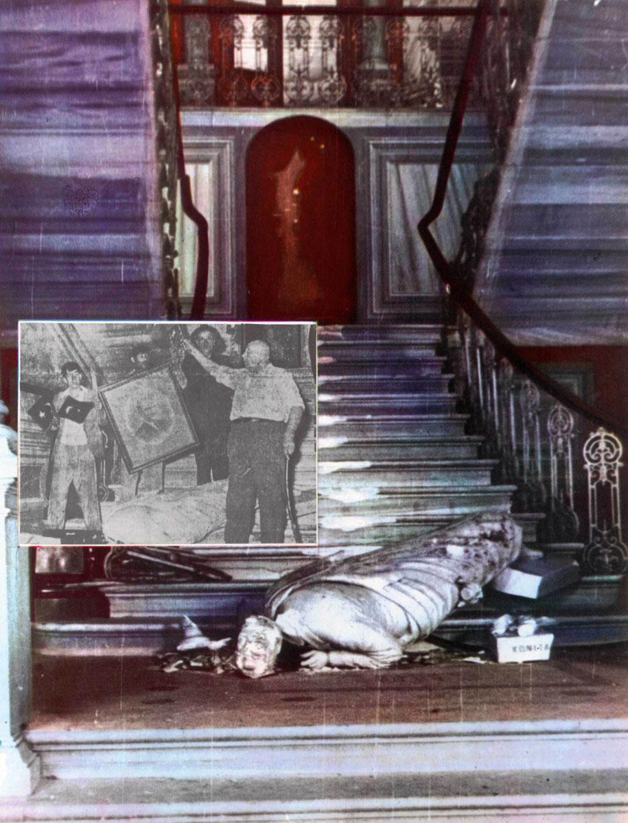 Εικ. 3. Φωτογραφία από το λεύκωμα του Δ. Καλούμενου «Η Σταύρωση του Χριστιανισμού».