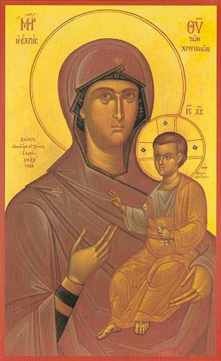 Εικ. 10. Φώτης Κόντογλου, «Παναγία». Ιερά Μονή Οσίου Γρηγορίου, Άγιον Όρος.