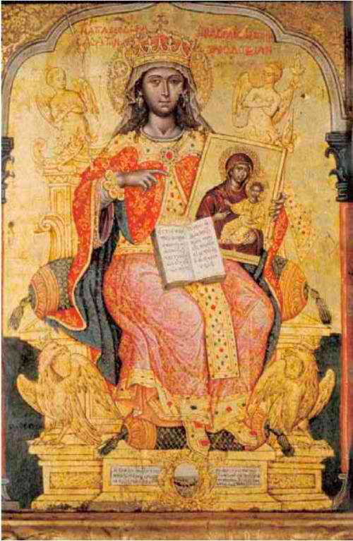 Εικ. 3. Εμμανουήλ Τζάνες, «Η αγία Θεοδώρα», 1671. Βυζαντινό και Χριστιανικό Μουσείο, Αθήνα.
