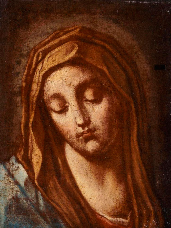Εικ. 5. Παναγιώτης Δοξαράς, «Παναγία», 1700. Εθνική Πινακοθήκη, Αθήνα.