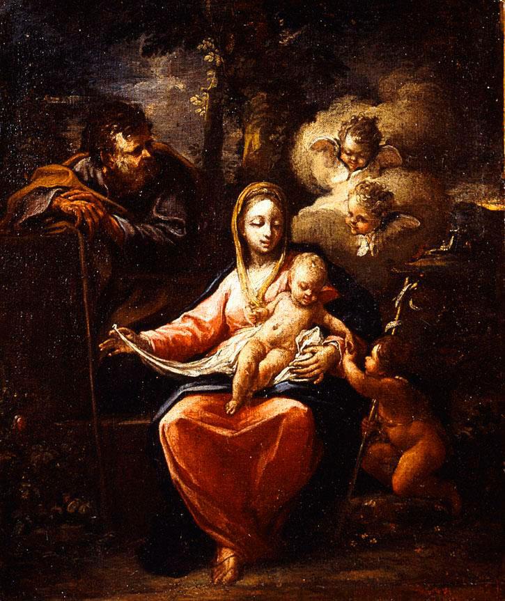 Εικ. 6. Παναγιώτης Δοξαράς, «Αγία Οικογένεια», 1700. Εθνική Πινακοθήκη, Αθήνα.