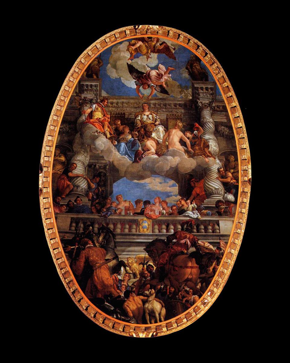 Εικ. 8. Paolo Veronese, «H Aποθέωση της Βενετίας», 1585.