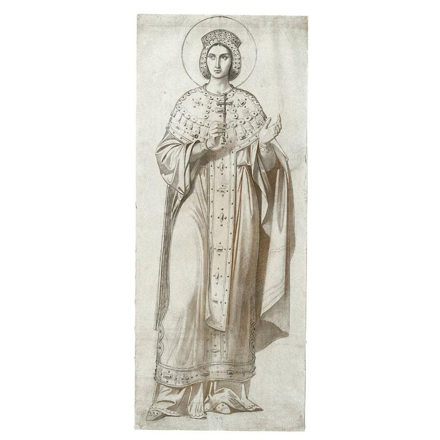 Εικ. 9. Λουδοβίκος Θείρσιος, «Αγία», 19ος αιώνας. Βυζαντινό και Χριστιανικό Μουσείο, Αθήνα.