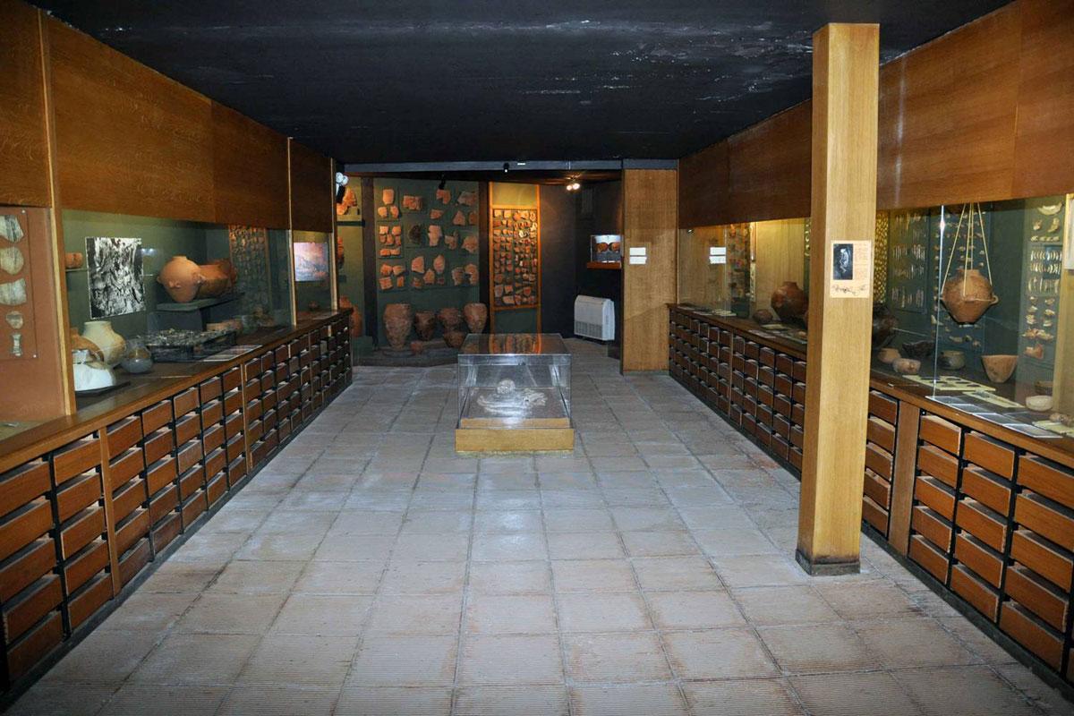 Εικ. 28. Μουσείο Αλεπότρυπας. Αίθουσα εκθεμάτων.
