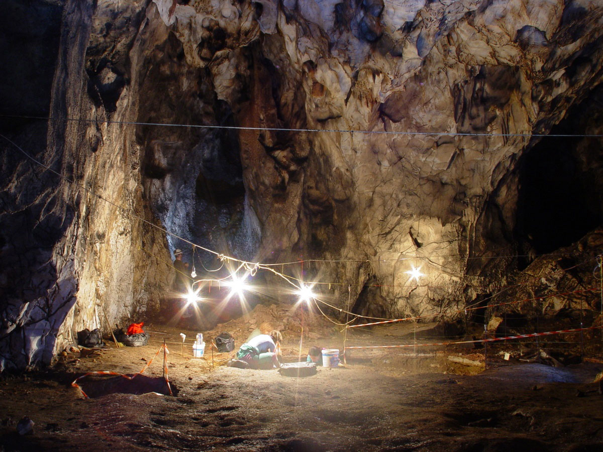 Ανασκαφή στο σπήλαιο Αλμωπίας: Ψάχνοντας εκεί που μόνο οι νυχτερίδες βλέπουν (φωτ. Τμήμα Γεωλογίας ΑΠΘ).