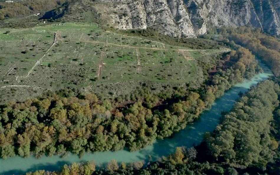 Ο αρχαιολογικός χώρος των Γιτάνων.