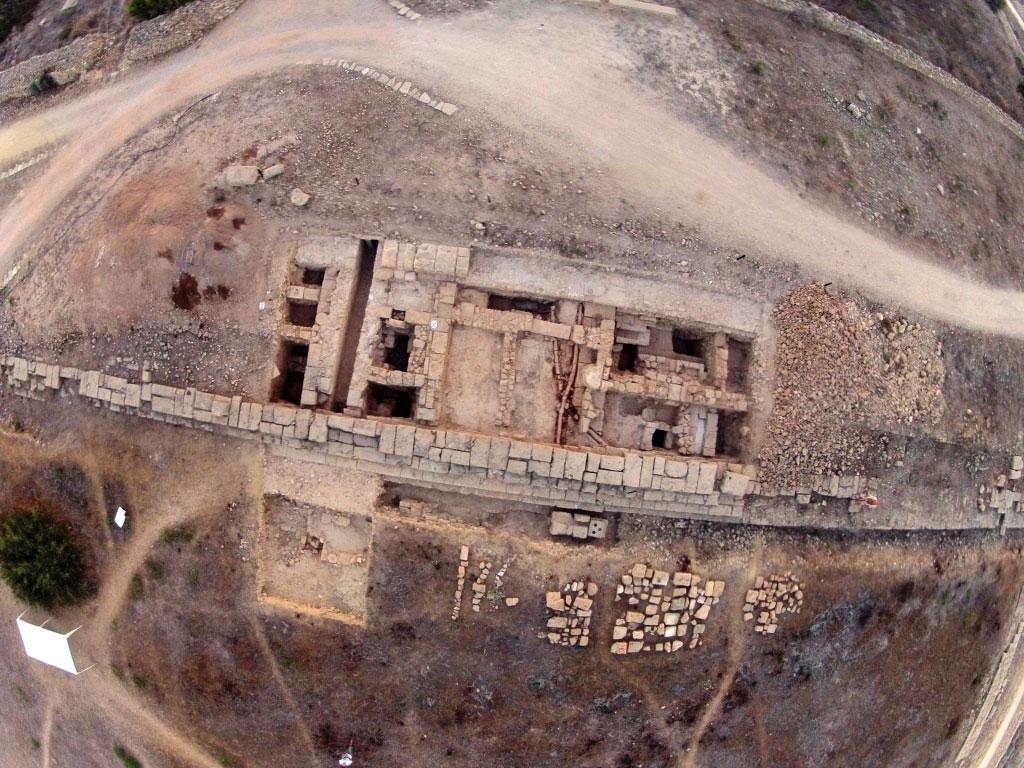 Αγορά της αρχαίας Πάφου. Αεροφωτογραφία Τομής ΙΙ (M. Rajwa).