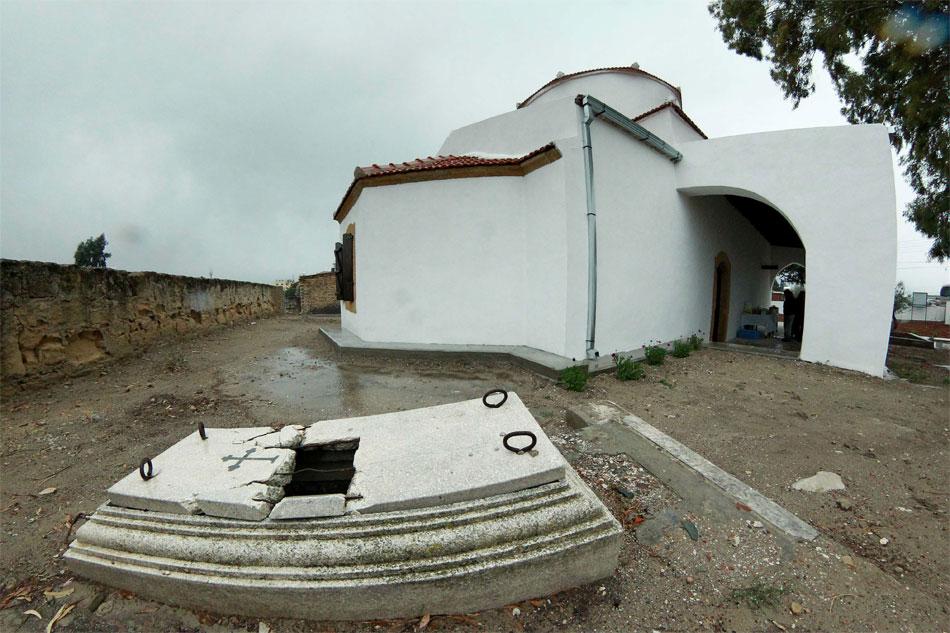 H εκκλησία της Παναγίας στο Τραχώνι Κυθρέας (φωτ. Γραφείο Τύπου και Πληροφοριών της Κυπριακής Δημοκρατίας).