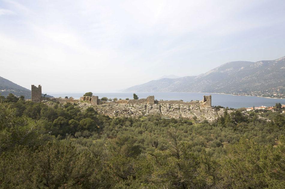 Άποψη του φρουρίου στα Αιγόσθενα (φωτ. ΑΠΕ-ΜΠΕ).