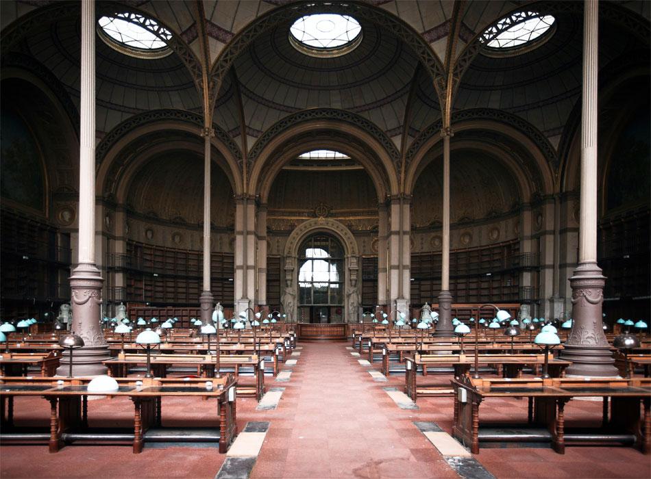 Αίθουσα της Εθνικής Βιβλιοθήκης της Γαλλίας.