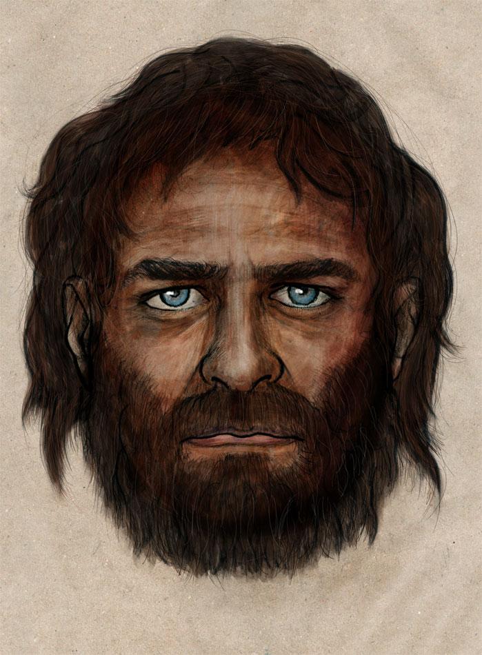 Σύμφωνα με μια νέα διεθνή γενετική έρευνα, ένας Ευρωπαίος κυνηγός-συλλέκτης, ο οποίος ζούσε στα σπήλαια της Ισπανίας πριν από περίπου 7.000 χρόνια, είχε τον ασυνήθιστο συνδυασμό μελαψού δέρματος, μαύρων μαλλιών και γαλανών ματιών (φωτ. CSIC).