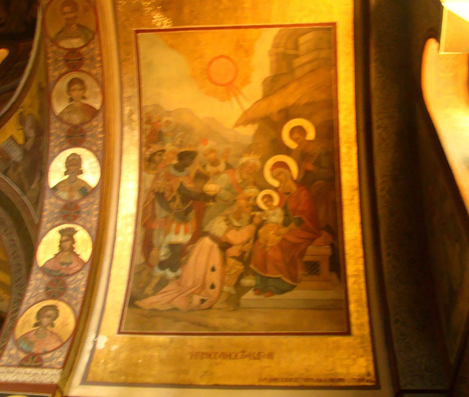 Εικ. 4. Η Προσκύνηση των Μάγων, ναός Αγίου Δημητρίου Ψυχικού.