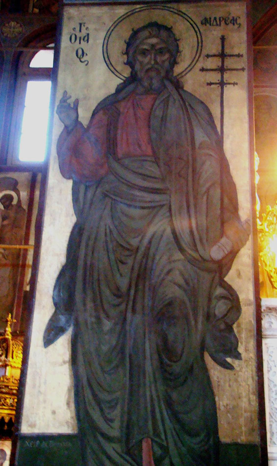 Εικ. 5. Άγιος Ανδρέας, ναός Αγίων Ταξιαρχών ή Παναγίας Γρηγορούσας, Αέρηδες Πλάκας.