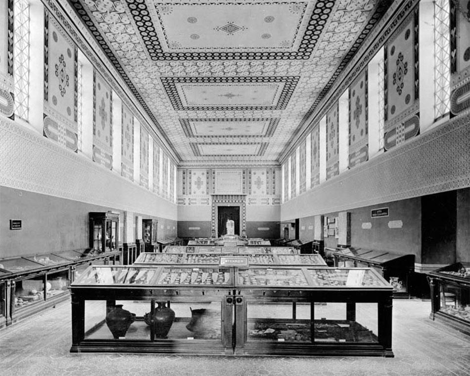 Εθνικό Αρχαιολογικό Μουσείο: Η Μυκηναϊκή Αίθουσα το 1910.