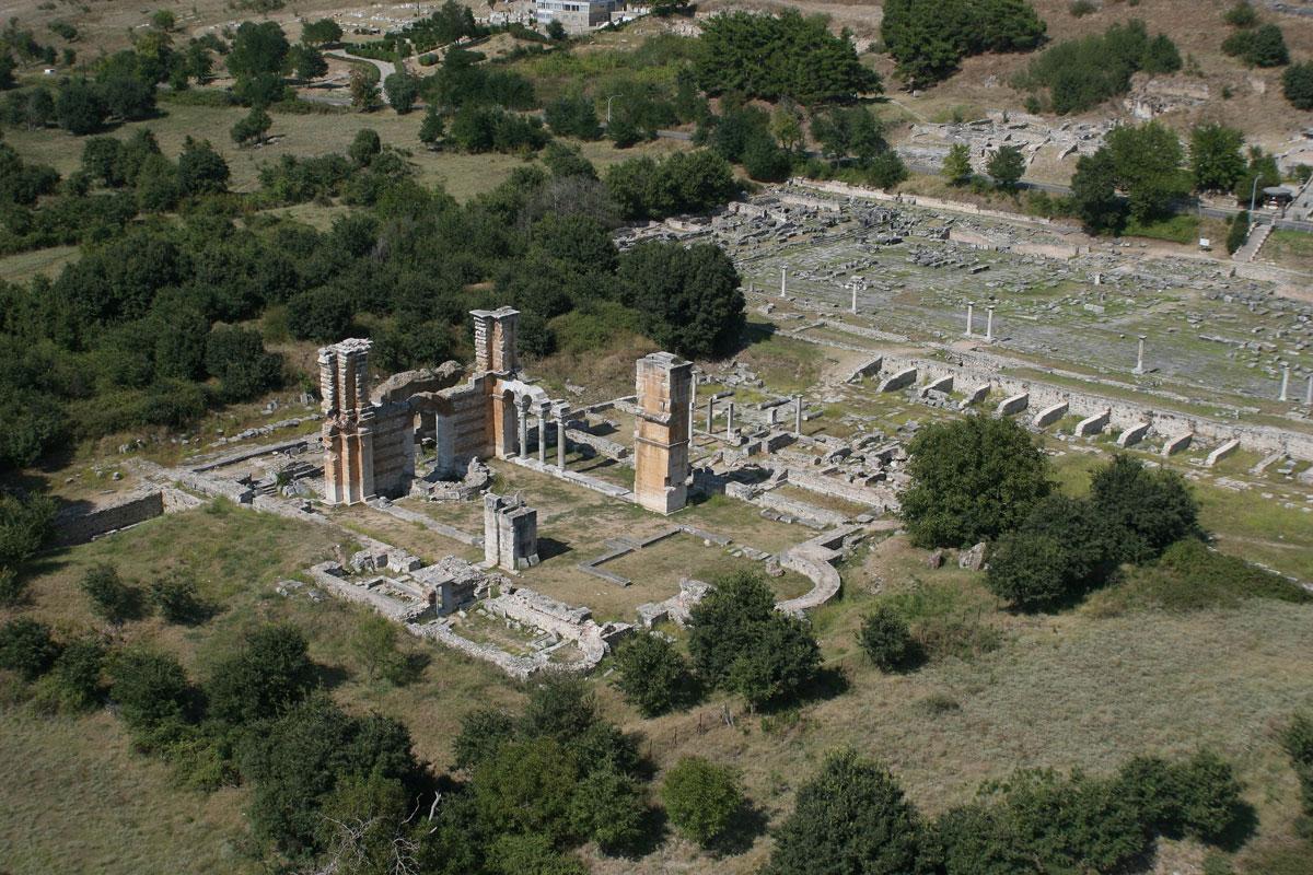 Ο αρχαιολογικός χώρος των Φιλίππων (φωτ. ΑΠΕ-ΜΠΕ).