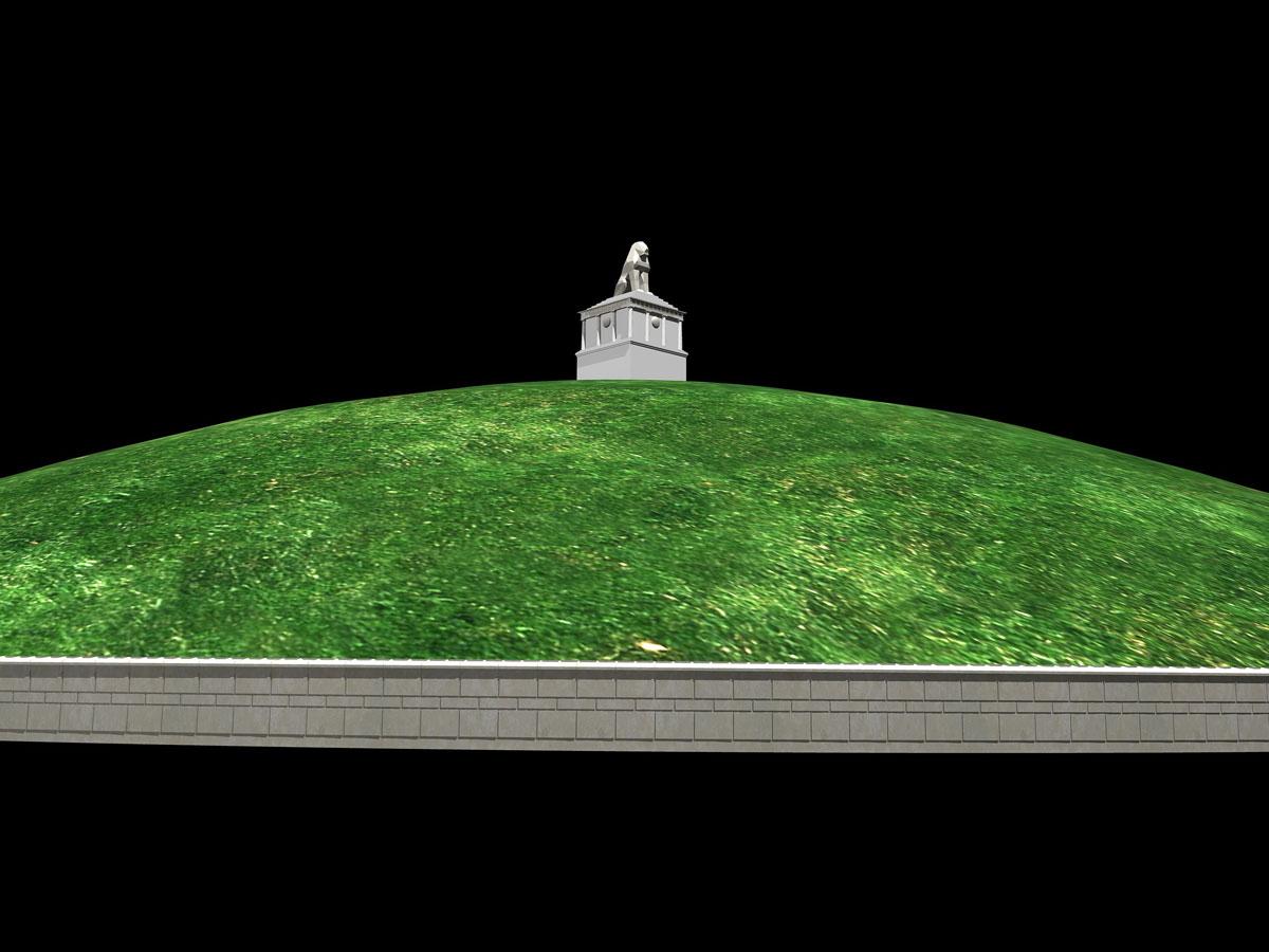 Η μέχρι τώρα έρευνα συνδέει τον Λέοντα της Αμφίπολης με τον τύμβο στο λόφο Καστά της αρχαίας Αμφίπολης (φωτ. ΑΠΕ-ΜΠΕ / ΚΗ'  ΕΠΚΑ).