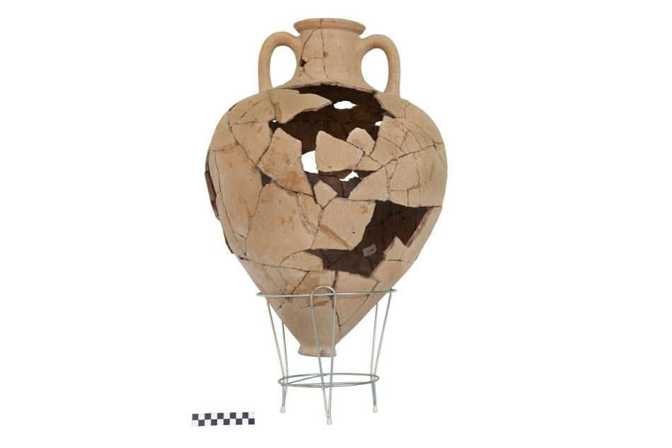 Αμφορέας από την ανασκαφή στον αρχαίο οικισμό στο Καραμπουρνάκι (φωτ. ΑΠΘ).