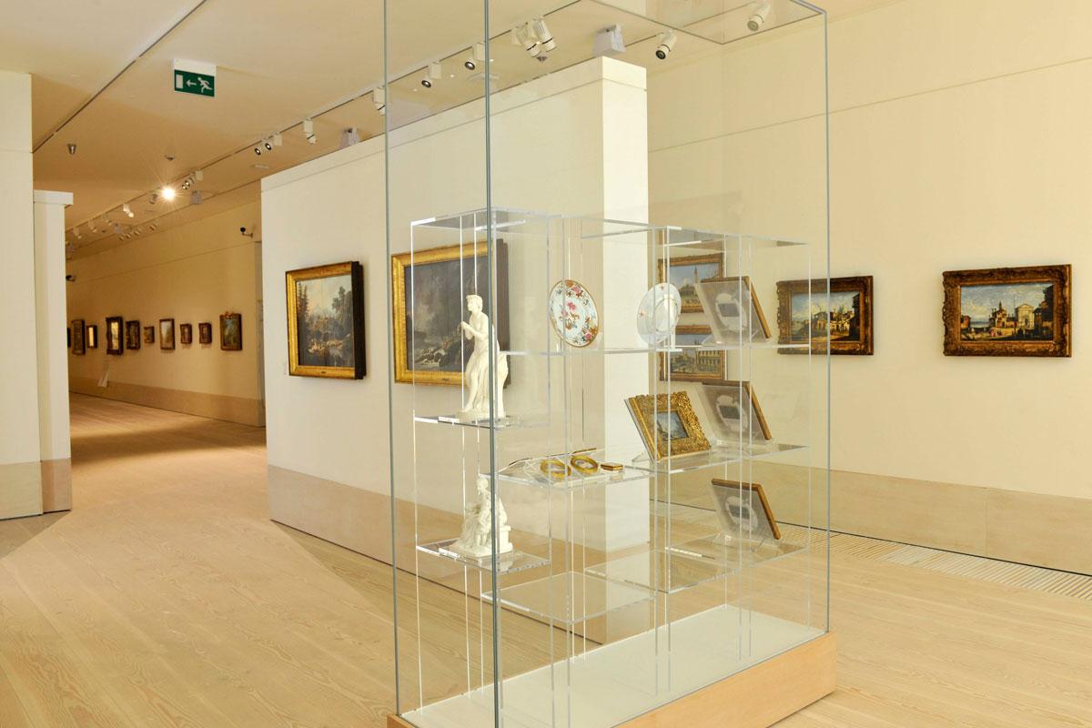 Λεβέντειος Πινακοθήκη: Άποψη της αίθουσας με τη Συλλογή του Παρισιού.
