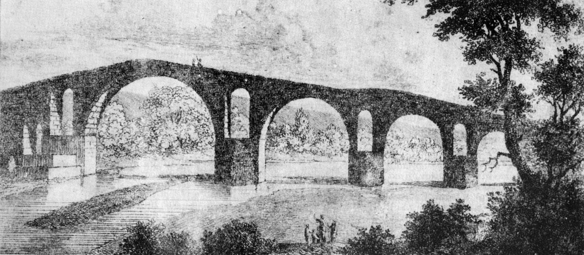 Εικ. 10. Το γεφύρι της Άρτας σε γκραβούρα του W. Turner (1820).