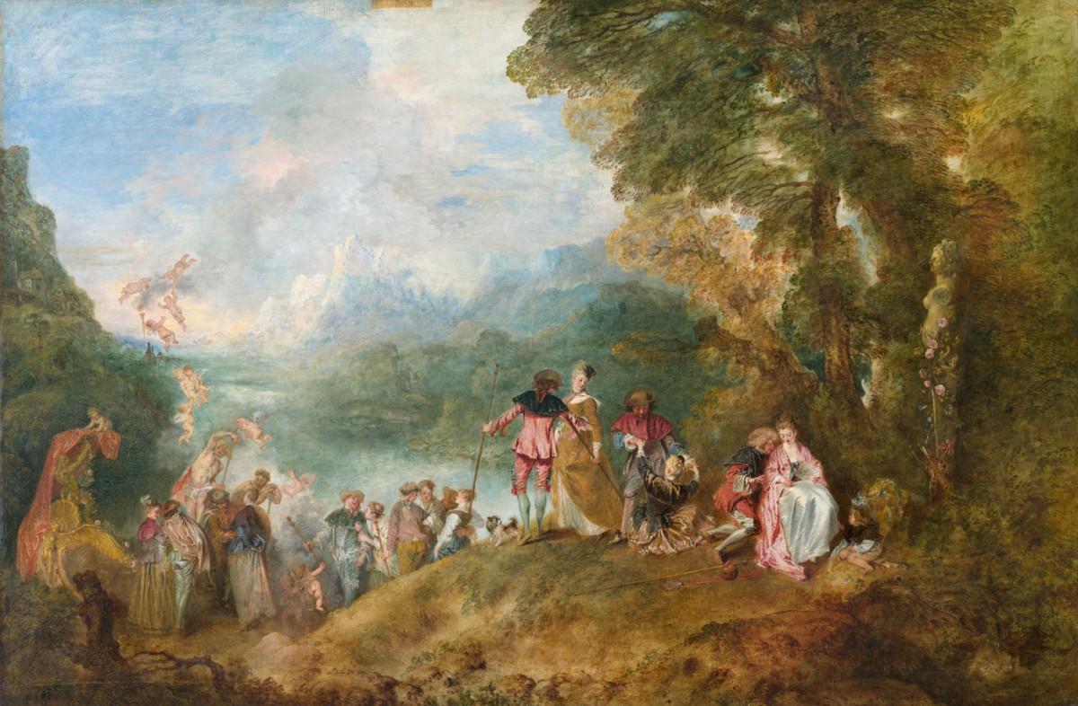Εικ. 6. Antoine Watteau, «Προσκύνημα στα Κύθηρα», 1717. Λούβρο, Παρίσι.