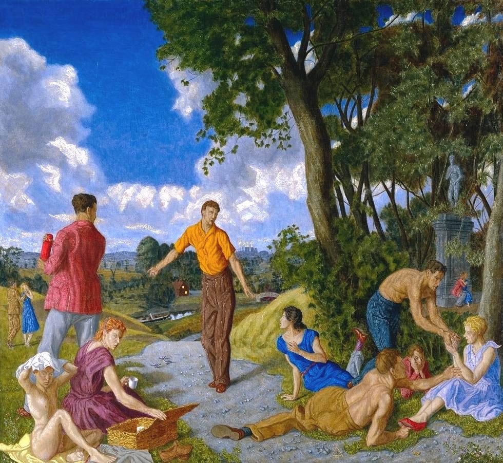 Εικ. 7. George Warner Allen, «Η επιστροφή από τα Κύθηρα», 1985-6. Tate Gallery, Λονδίνο.