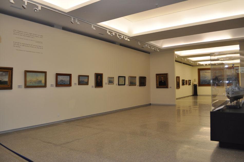 """Εικ. 19. Έκθεση «Το θωρηκτό """"Γεώργιος Αβέρωφ"""" (1911-2011). Ιστορία και τέχνη», 5 Οκτωβρίου 2011-7 Ιανουαρίου 2012."""