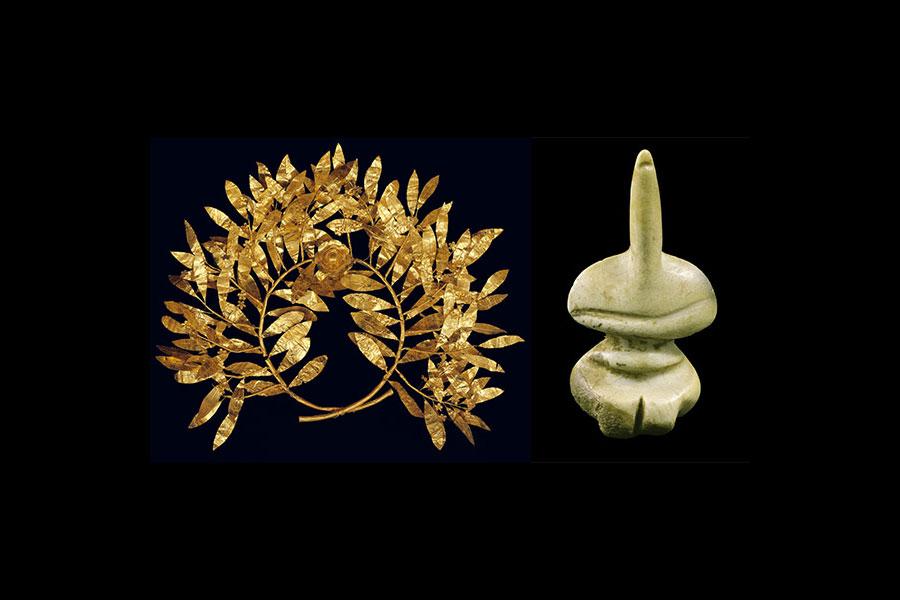 Στην έκθεση θα παρουσιαστούν 92 αρχαία και νεότερα αντικείμενα από τις συλλογές του Μουσείου Μπενάκη, όπως ειδώλια, εργαλεία, αγγεία, κοσμήματα, χειρόγραφα και κοστούμια (φωτ. The Hellenic Museum).