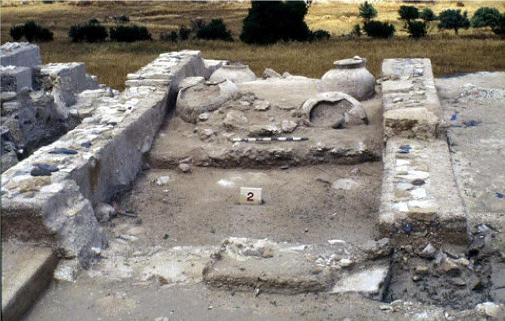 Από τις ανασκαφές του Φοινικικού Αρχείου στο Ανάκτορο του Ιδαλίου.