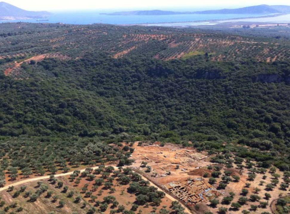 Άποψη της ανασκαφής στην Ίκλαινα Μεσσηνίας.