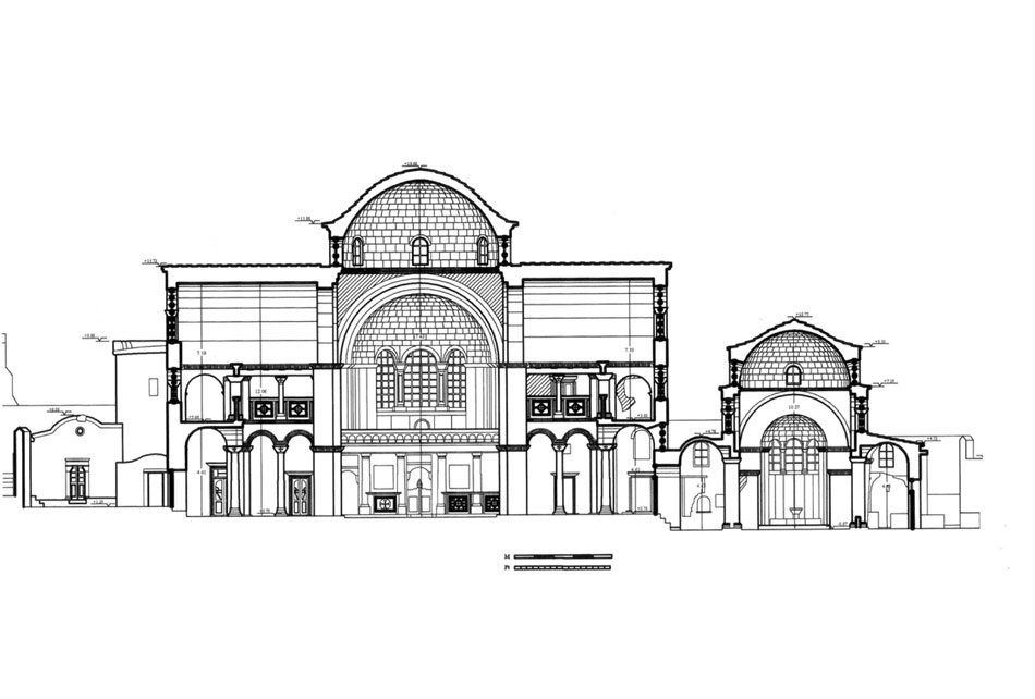 Σχέδιο της Παναγίας Καταπολιανής της Πάρου.