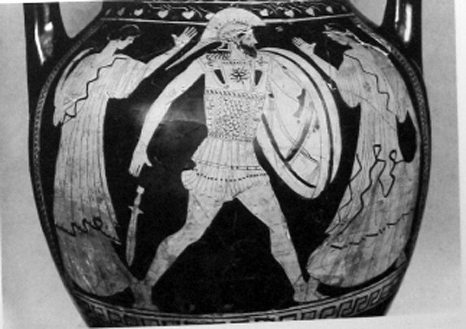 Εικ. 15. Αττικός ερυθρόμορφος αμφορέας του «Ζωγράφου της Altamura» χρονολογούμενος μεταξύ 470-450 π.Χ., Λονδίνο, BM E 263 (LIMC IV 2, σ. 337, εικ. 264).