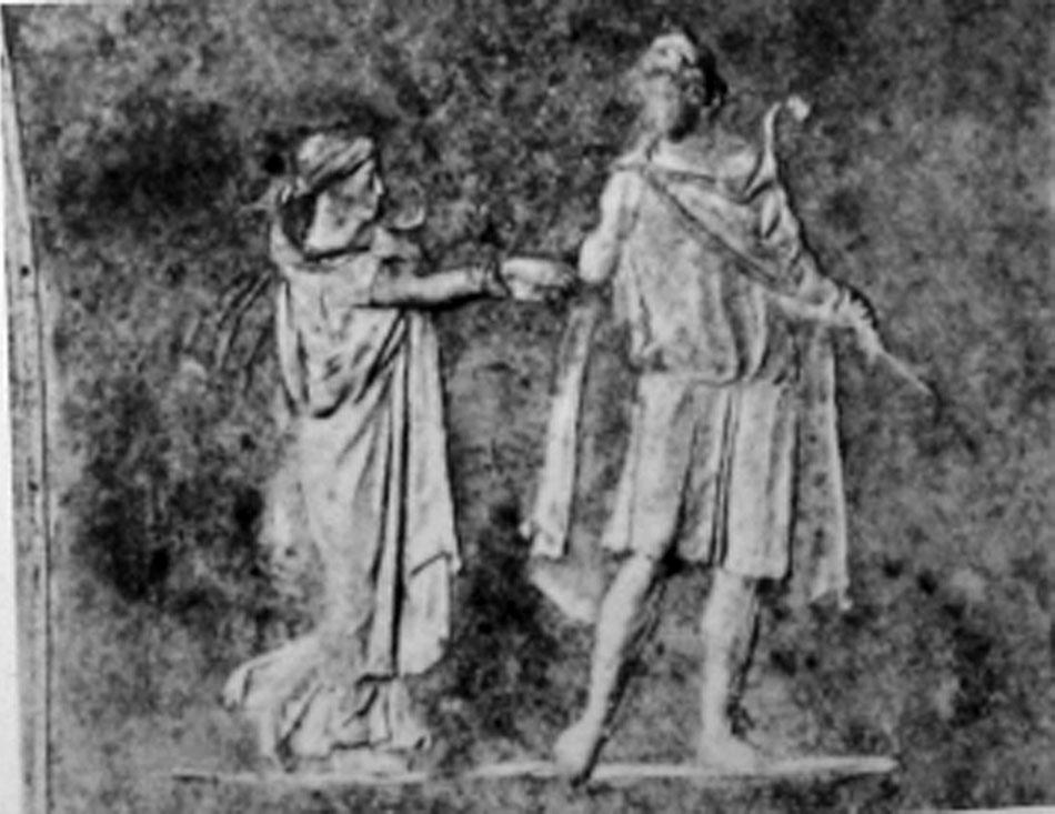 Εικ. 5. Ανάγλυφο χρονολογούμενο στο 40 μ.Χ., Ρώμη (LIMC IV 2, σ. 321, εικ. 168).