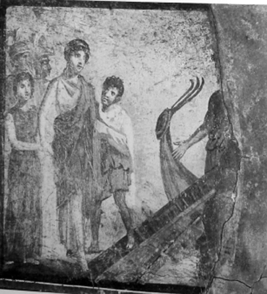 Εικ. 6. Τοιχογραφία «τέταρτου στυλ» από την Πομπηία, Νάπολη, Mus. Naz. 119690 (LIMC IV 2, σ. 324, εικ. 177).