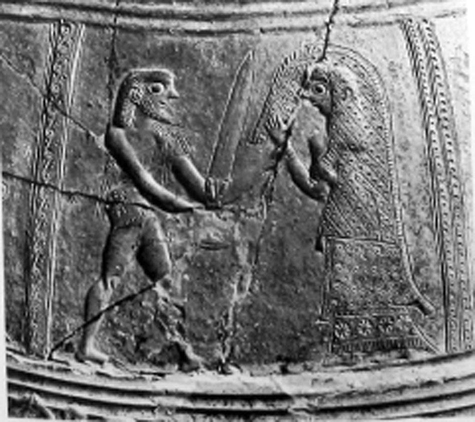 Εικ. 9. Ανάγλυφος πίθος της Μυκόνου χρονολογούμενος μεταξύ 675-650 π.Χ., Μύκονος, Μουσείο Μυκόνου 2240 (LIMC IV 2, σ. 331, εικ. 225).