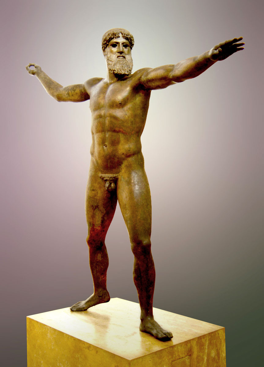 Εικ. 3. Το άγαλμα του Αρτεμισίου (περ. 460 π.Χ.). Εθνικό Αρχαιολογικό Μουσείο, Αθήνα.