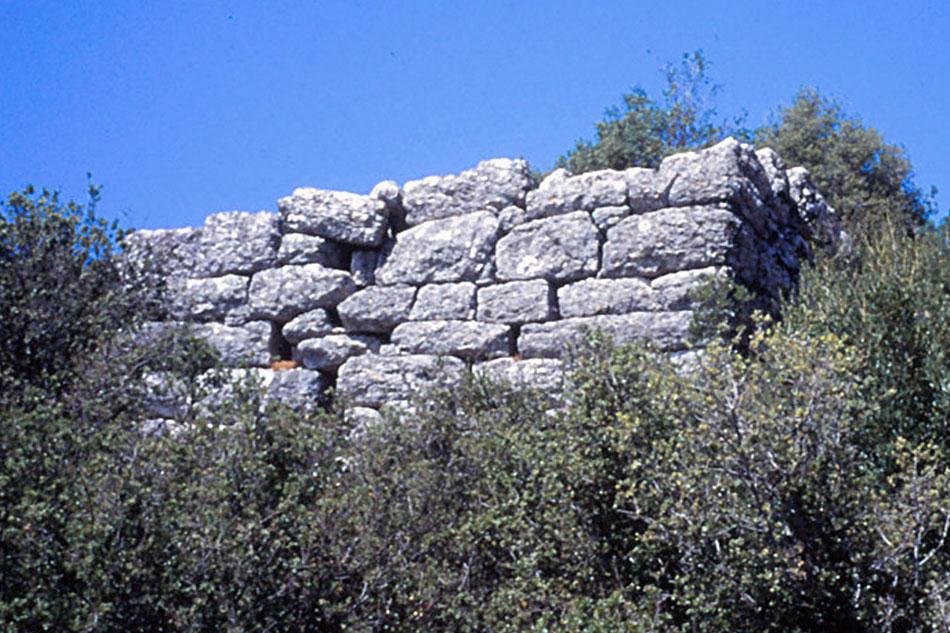 Εικ. 3. Τμήμα αρχαίου τείχους στη θέση Παλαιοκάτουνου Άρτας, όπως σώζεται σήμερα στο χώρο. (Προσωπική συλλογή Άγγελου Σινάνη.)