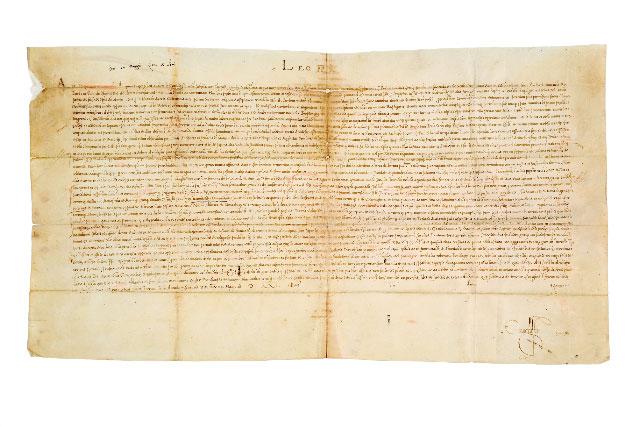 Εικ. 6. Η βούλλα του πάπα Λέοντα Ι΄, 18 Μαΐου 1514 (φωτ.: Ελληνικό Ινστιτούτο Βυζαντινών και Μεταβυζαντινών Σπουδών Βενετίας).