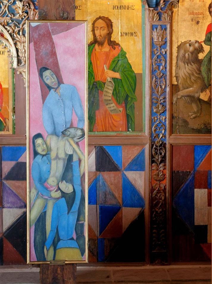 Από την έκθεση «Μη μου άπτου: Βυζαντινές αναλογίες στη σύγχρονη κυπριακή τέχνη».