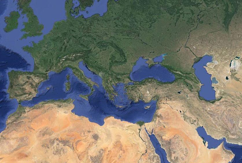 Σύμφωνα με μια νέα γενετική ανάλυση, η Κρήτη και τα Δωδεκάνησα αποτέλεσαν για τους πρώτους γεωργούς μια «γέφυρα», που συνέδεσε τη Μικρά Ασία με την Ευρώπη (φωτ. Google maps).
