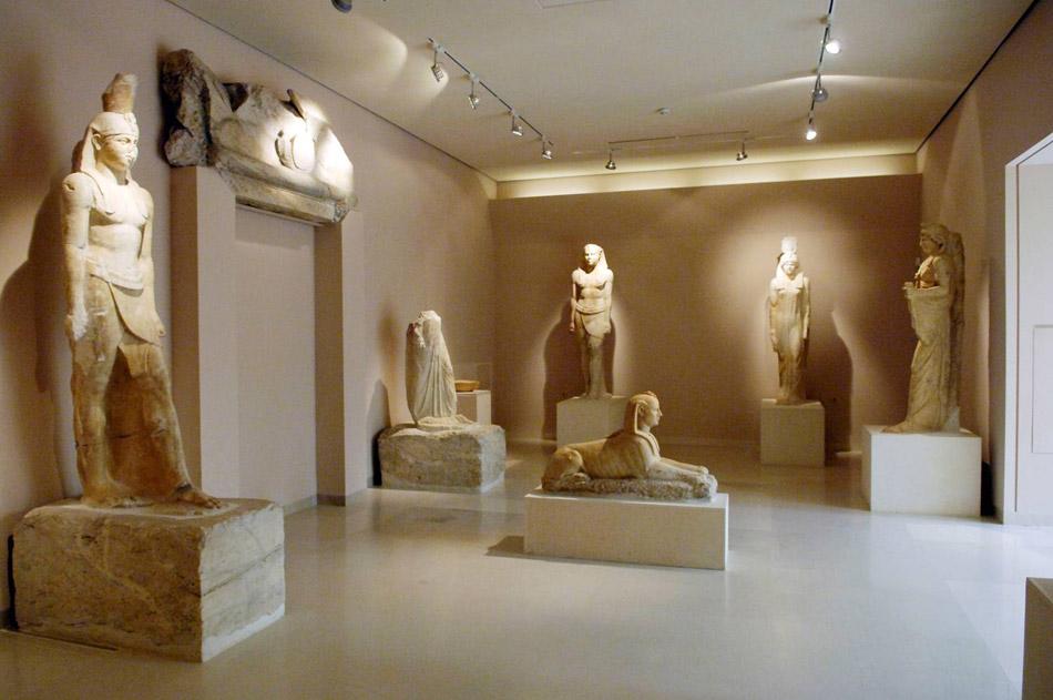 Οι αρχαιότητες του Ιερού των Αιγυπτίων Θεών φιλοξενούνται στο Αρχαιολογικό Μουσείο του Μαραθώνα (φωτ. ΑΠΕ-ΜΠΕ).
