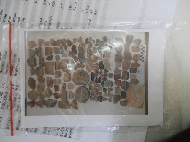 Μέρος των επαναπατρισθέντων από τη Γερμανία αρχαιοτήτων.